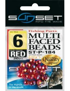 Perles à facettes rouges Sunset ST-P-184 Red
