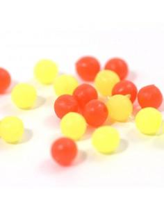 Perles rondes Jaune / Rouge...